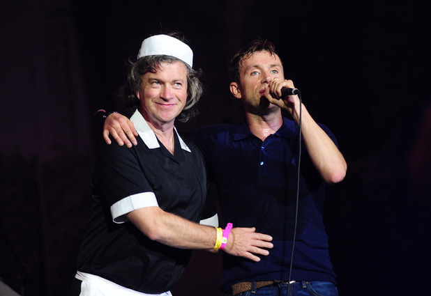 Damon Albarn and Harry Enfield