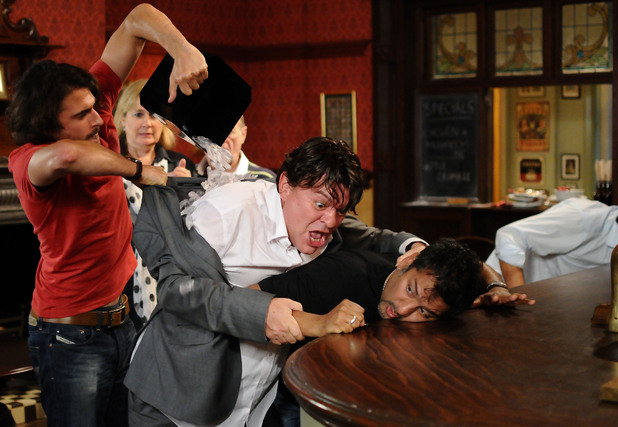 Syed tries to get Derek off Masood.