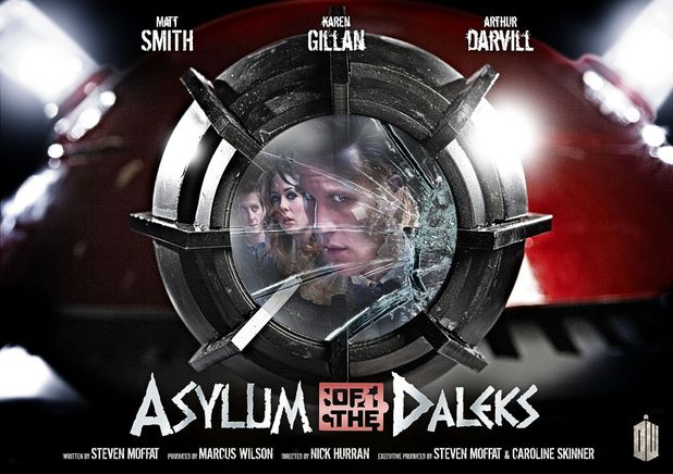 Doctor Who 'Asylum of the Daleks' iconic poster created by Lee Binding