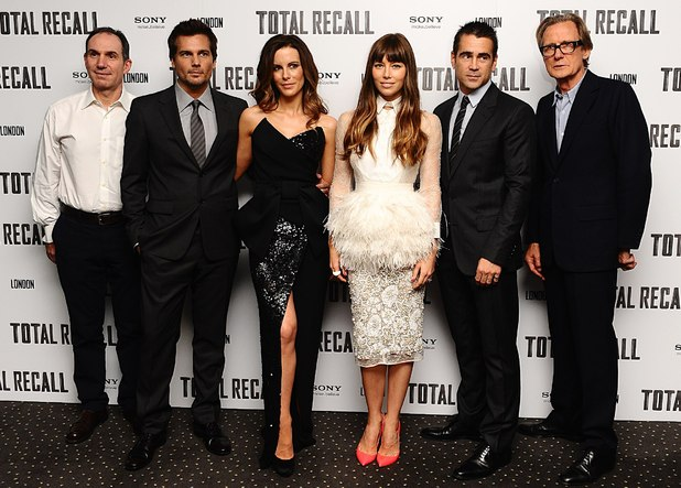 Total Recall UK premiere: Toby Jaffe, Len Wiseman, Kate Beckinsale, Jessica Biel, Colin Farell and Billy Nighy