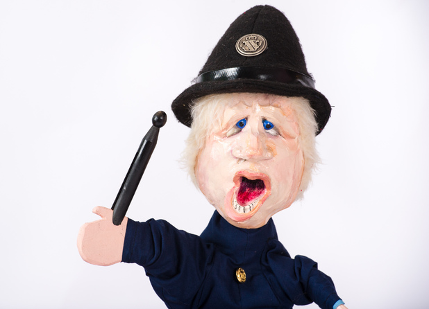 Boris Johnson in Punch and Judy Rebooted
