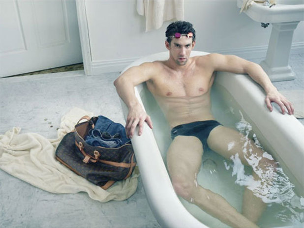 Michael Phelps in the Louis Vuitton advert