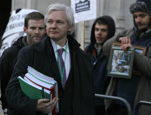 Julian Assange at the Supreme Court of the United Kingdom, February 1 2012