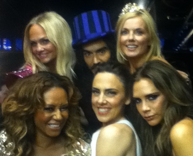 Spice Girls with Russell Brand at the Olympics