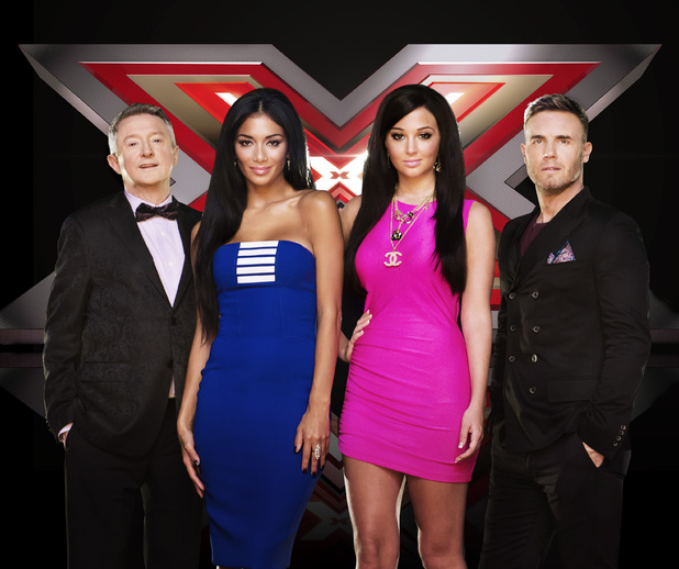The X Factor 2012: Louis Walsh, Nicole Sherzinger, Tulisa and Gary Barlow