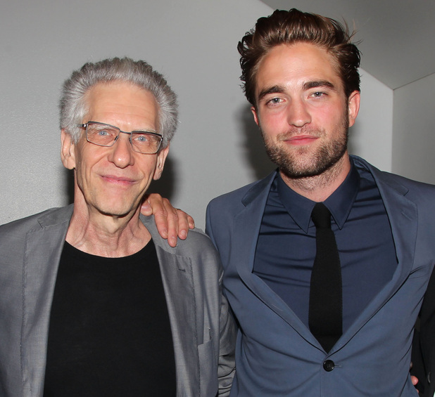 Robert Pattinson with David Cronenberg, Cosmopolis NYC premiere, August 13 2012
