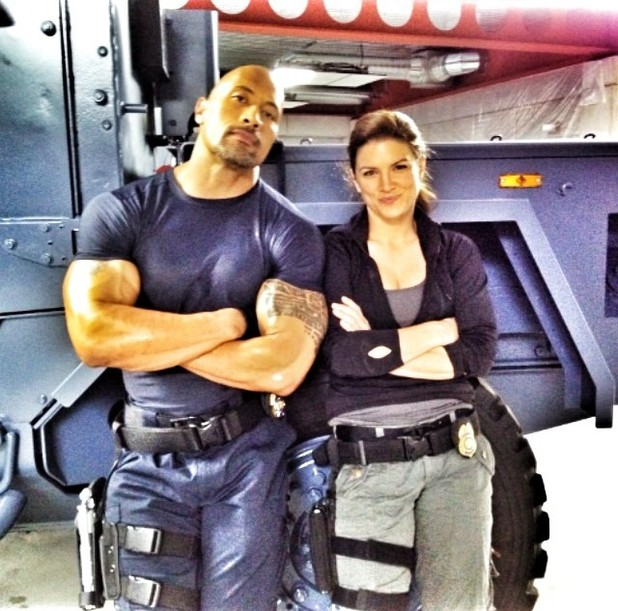'Fast and the Furious 6' first picture - Dwayne Johnson and Gina Carano