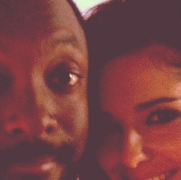 Cheryl Cole and will.i.am in Twitter picture