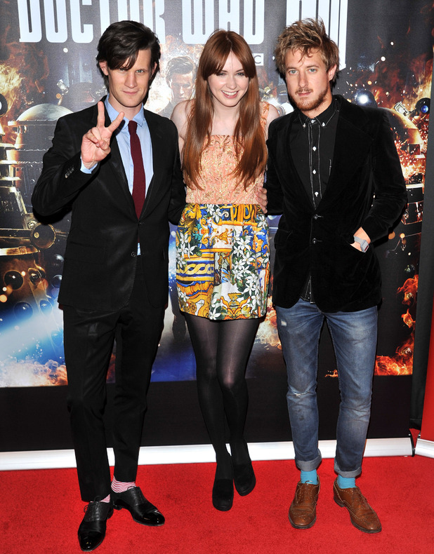 Matt Smith, Karen Gillan, Arthur Darvill 'Doctor Who: Asylum of the Daleks' TV Preview and Q&A held at the BFI Southbank London, England