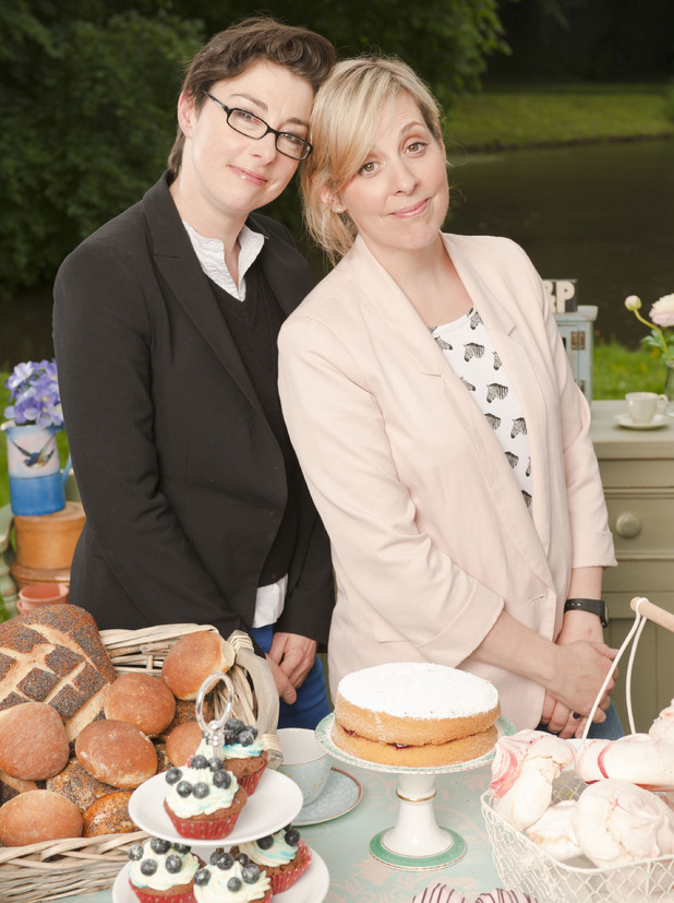 Presenters Sue Perkins and Mel Giedroyc