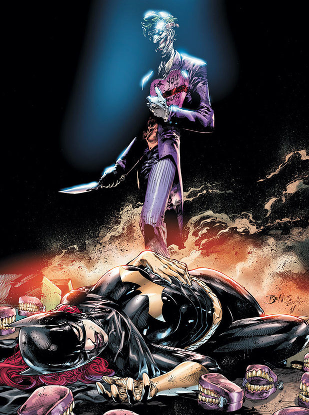 'Batgirl' #14 artwork featuring the Joker