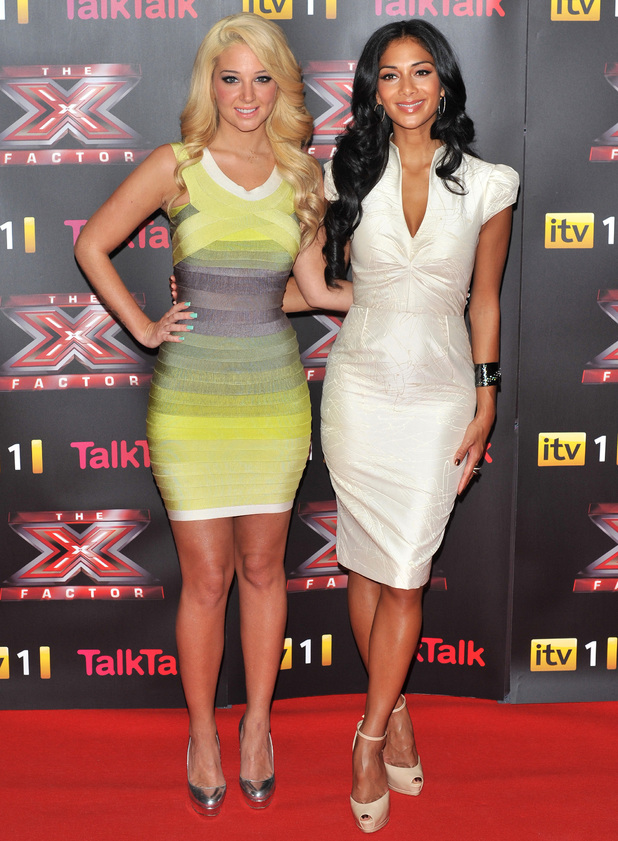 Tulisa Contostavlos and Nicole Scherzinger