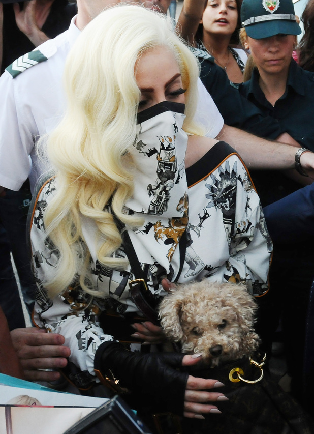 Lady Gaga arrives in Bulgaria for the first leg of her European tourSofia, Bulgaria
