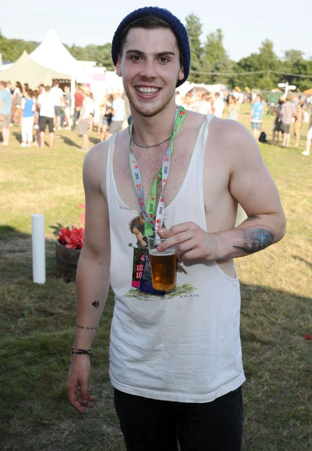 Celebrities at V Festival: Aiden Grimshaw