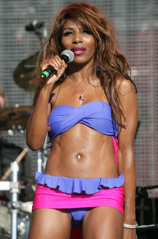 Sinitta performs at the Rewind Festival in Oxfordshire.