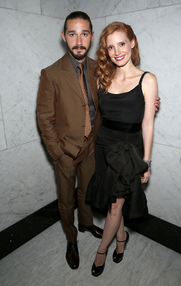 Shia LaBeouf and Jessica Chastain