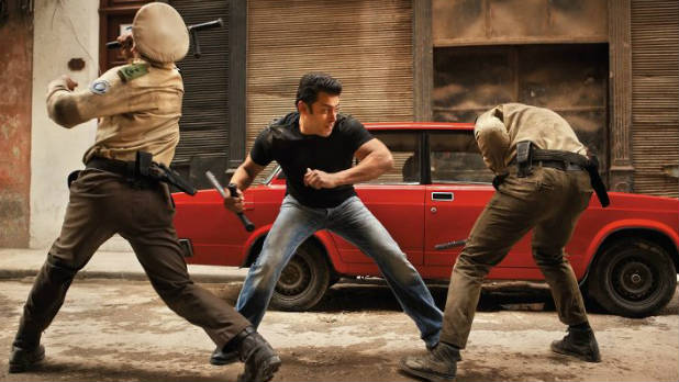 Salman Khan and Katrina Kaif in the theatrical trailer for 'Ek Tha Tiger'.