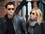 Jennifer Aniston and Justin Theroux walk hand-in-hand in Manhattan