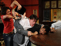 All hell breaks loose between the football team on EastEnders next week.