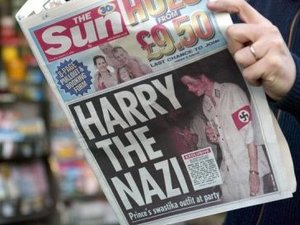 Prince Harry, The Sun newspaper