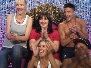 Day 7: Samantha, Coleen, Danica, Ashley and MC Harvey in the Diary Room