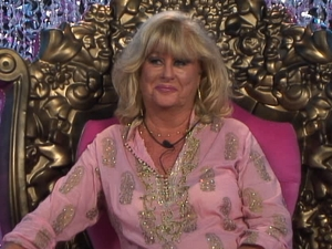 Psychic Shelley aka Jasmine's Mum Marilyn enters the house.
