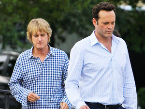 Owen Wilson and Vince Vaughn on the film set of their new movie &#39;The Internship&#39; in Atlanta.