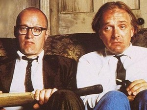 Rick Mayall and Ade Edmondson in Bottom. 