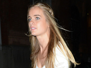 Cressida Bonas Leaving the afterparty of the new Batman film 'The Dark Knight Rises' with Princess Eugenie's boyfriend Jack Brooksbank. Cressida was linked to Prince Harry at the party and the pair left the club within minutes of one another