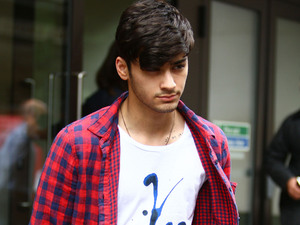 Zayn Malik of One Direction leaving the Sony Music offices London, England - 18.07.12 Mandatory Credit: WENN.com