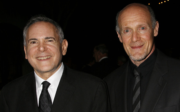 "Craig Zadan, left, and Neil Meron, producers of the film ""Hairspray"" arrive at the Santa Barbara International Film Festival's Kirk Douglas Award for Excellence in Film presented to actor John Travolta"