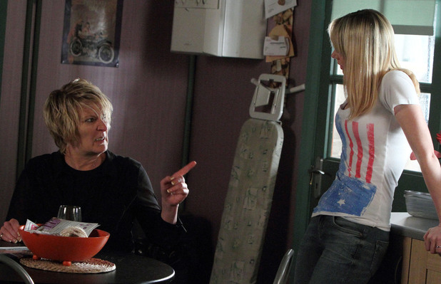 Shirley finds it hard to listen to what Carly has to say.