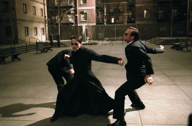 Neo and Agent Smith