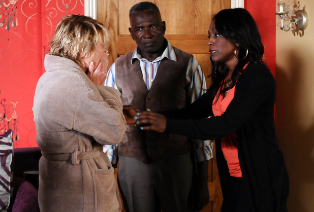 Shirley is upset after a confrontation with Jay.