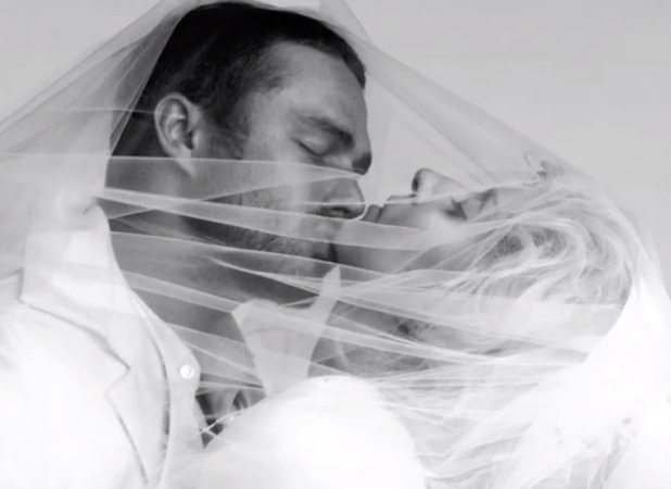 Lady GaGa and Taylor Kinney in 'You and I' video.