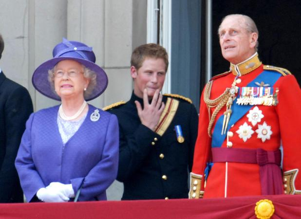 Prince Harry, The Queen, Prince Philip