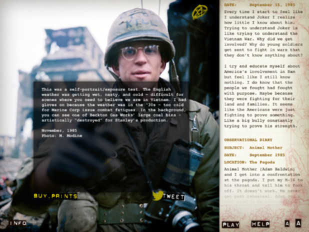 'Full Metal Jacket Diary' screenshot