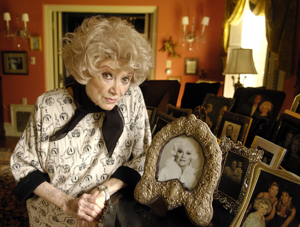 Phyllis Diller photographed in March 2005