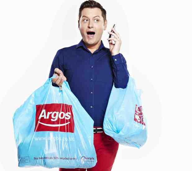 Brian Dowling teams with Argos