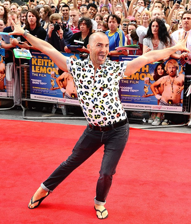 Louis Spence pose