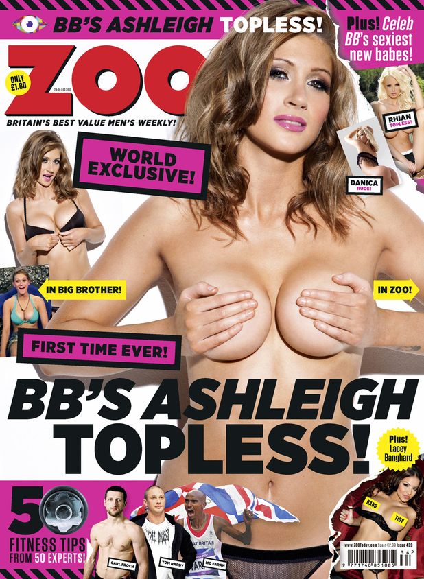 Big Brother's Ashleigh Hughes poses for Zoo.