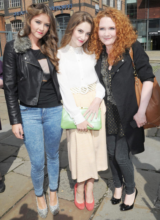 Brooke Vincent, Paula Lane and Jennie McAlpine take a break from the cobbles of Weatherfield.
