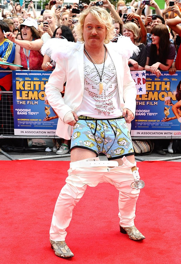 Keith Lemon arriving for the UK Premiere of Keith Lemon : The Film