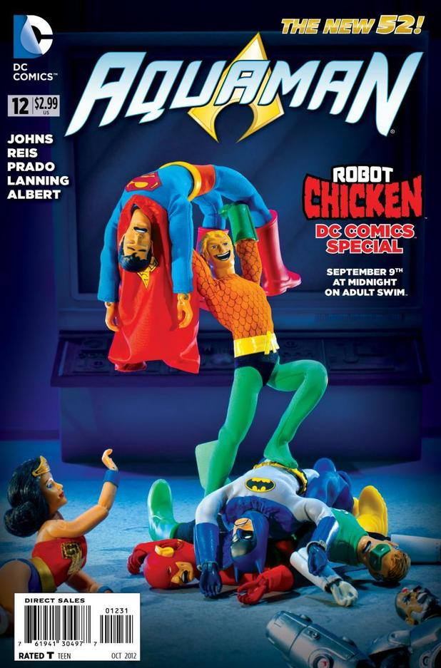 Aquaman #13 Robot Chicken cover