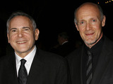 """Craig Zadan, left, and Neil Meron, producers of the film """"Hairspray"""" arrive at the Santa Barbara International Film Festival's Kirk Douglas Award for Excellence in Film presented to actor John Travolta"""