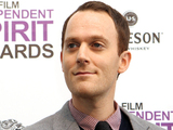 Will Reiser poses with the best first screenplay award for 50/50 at the Independent Spirit Awards on Saturday, Feb. 25, 2012