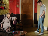 Jay tries to apologise to Shirley.