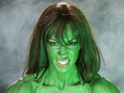 Jodie Marsh dresses up as the Incredible Hulk for her latest photoshoot.