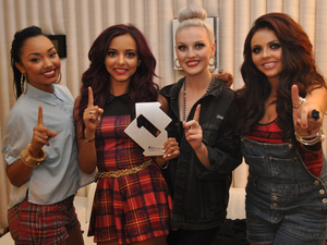 Little Mix celebrate reaching No 1 with their single 'Wings'