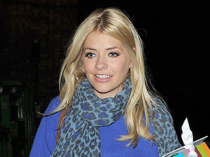 Holly Willoughby leaving the Riverside Studios having filmed an episode of 'Celebrity Juice'. London, England